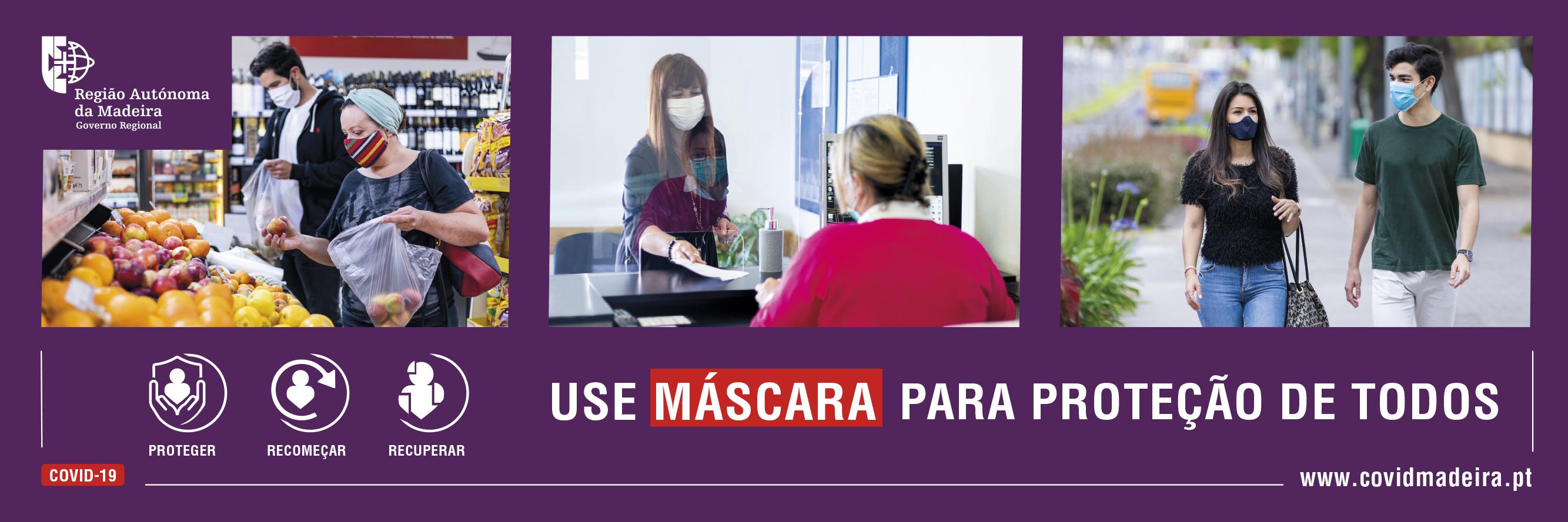 Use Máscara para proteção de todos