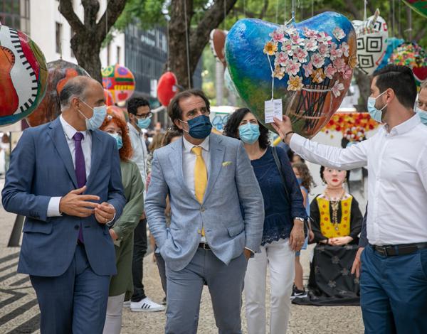 Albuquerque visitou trabalhos de expressão plástica na Placa Central