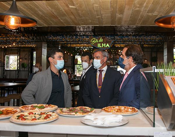 Presidente do Governo visitou espaço de restauração inovador à Imperatriz Dona Amélia