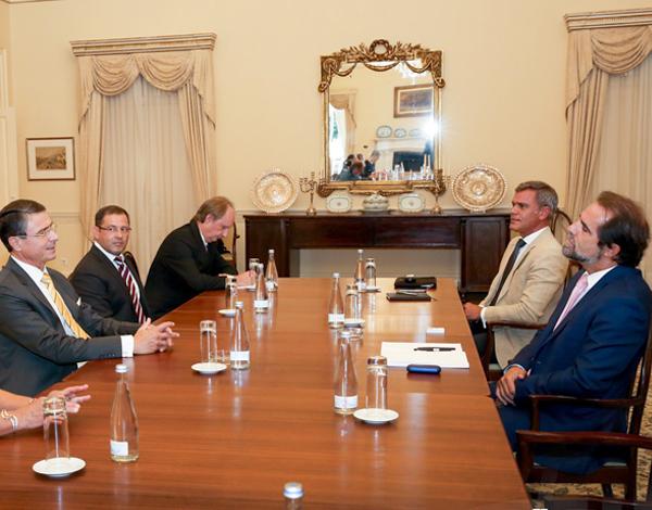 Presidente do Governo recebeu Embaixador da Alemanha