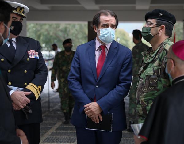 Albuquerque na cerimónia de despedida aos militares madeirenses de partida para o Afeganistão