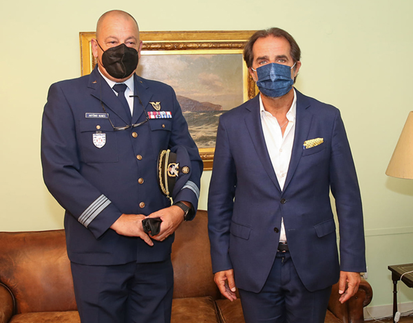 Albuquerque recebeu comandante do Aeródromo do Porto Santo