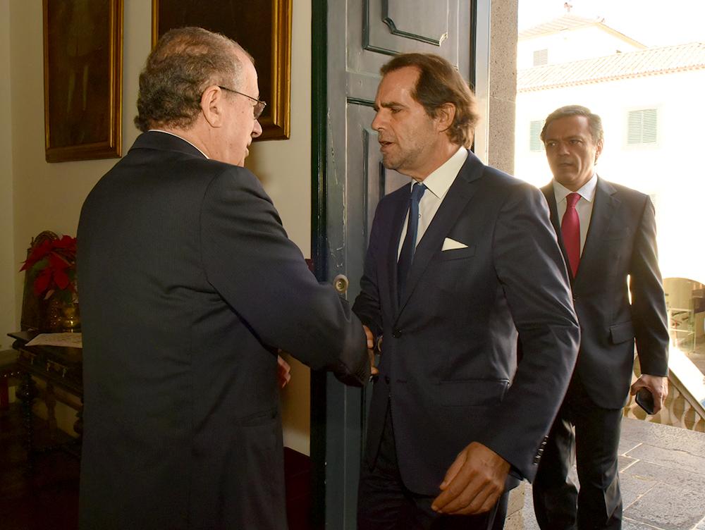 Miguel Albuquerque agradeceu a colaboração institucional do Representante da República