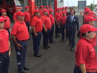 Presidente do GR inaugurou Quartel dos Bombeiros do Porto Santo