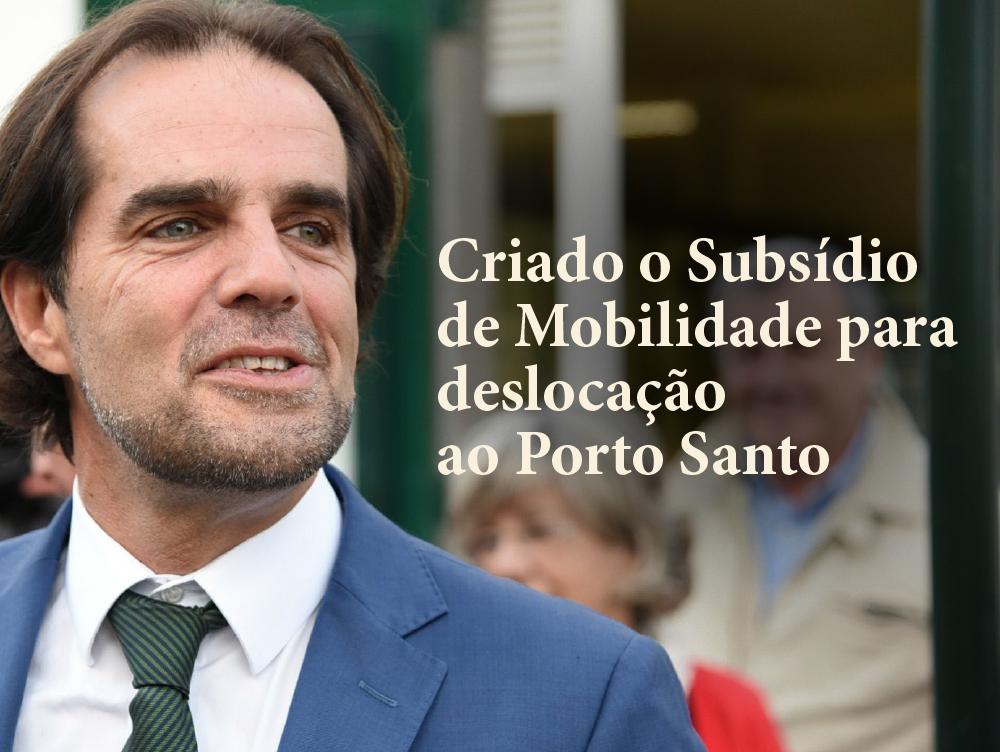 Criado o Subsídio de Mobilidade para deslocação ao Porto Santo