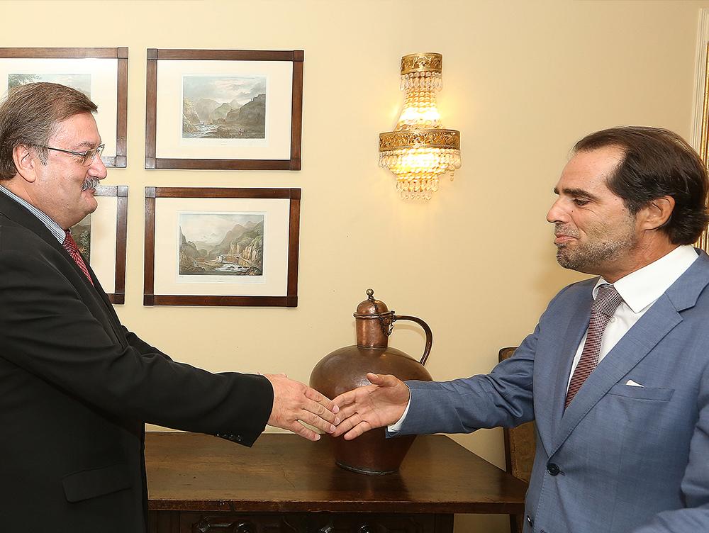 Secretário geral UGT presta cumprimentos a Miguel Albuquerque