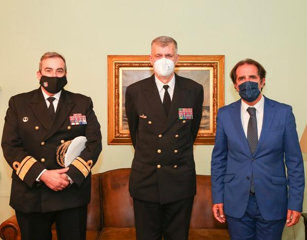 Albuquerque recebeu vice-almirante Gouveia e Melo
