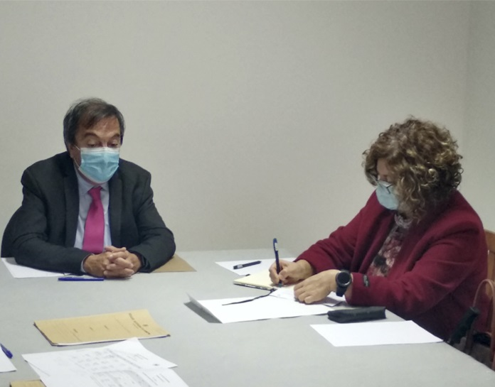 """Meeting with the principal of Escola Básica do 1º Ciclo com Pré-Escolar das Figueirinhas - """"Conditions of Operation of the School Year in Full-Time Schools"""""""