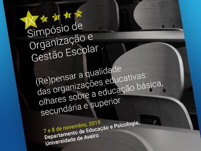 IX Simpósio OGE – (Re)pensar a qualidade das organizações educativas do século XXI - simposiooge.web.ua.pt