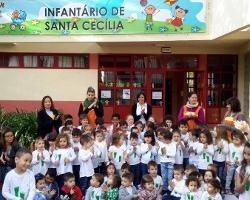 Infantário de Santa Cecília hasteia Bandeira Verde