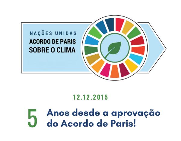 Cinco anos desde a aprovação do Acordo de Paris!