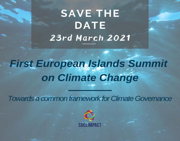 Primeira Cimeira das Ilhas Europeias sobre as Alterações Climáticas