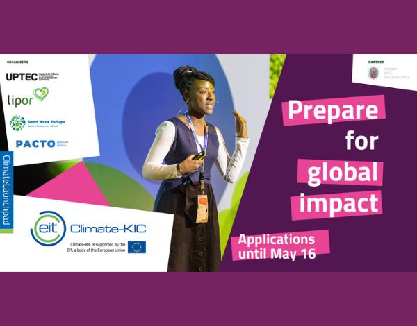 Abertas Candidaturas | Climate Launchpad | Pacto Português para os Plásticos