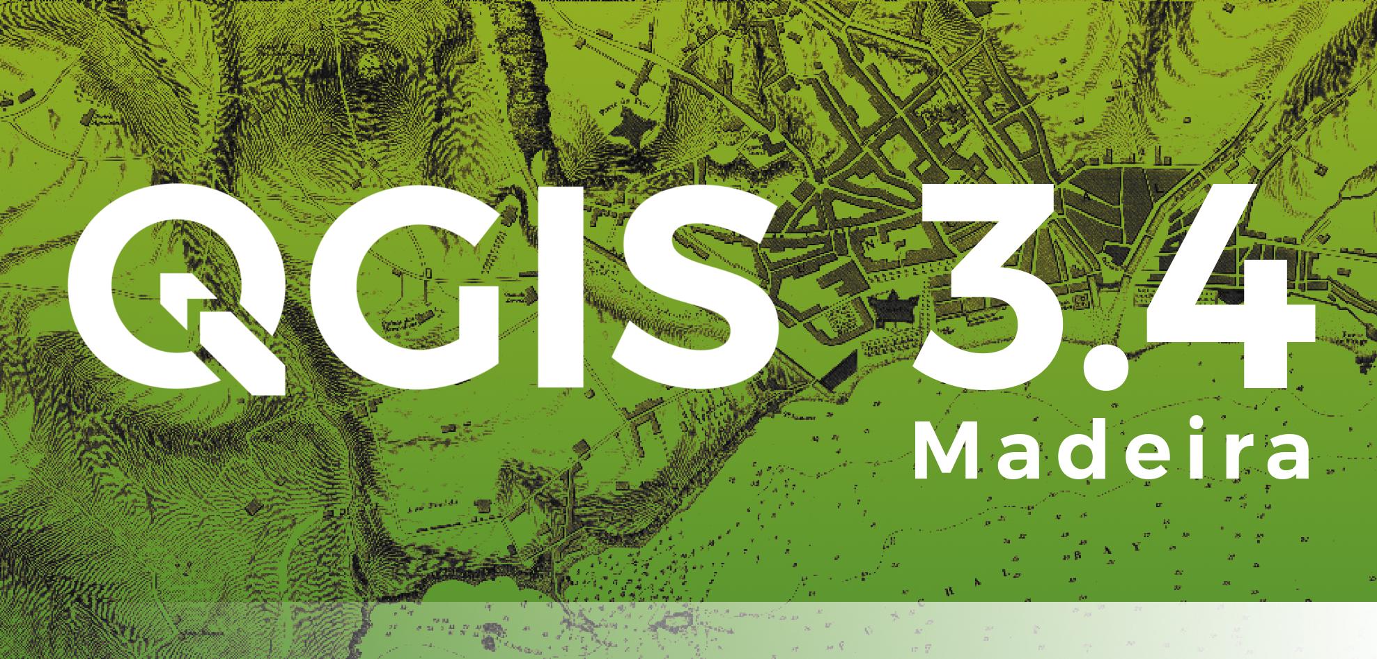 QGIS 3.4 leva o nome da Madeira aos cinco continentes