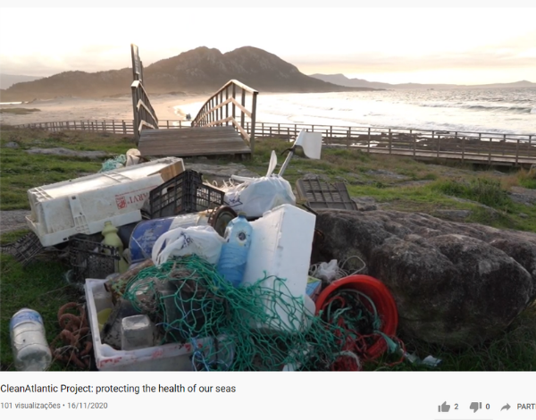 """""""Proteger a Saúde dos nossos mares"""" é o novo vídeo criado no âmbito do projeto CleanAtlantic"""