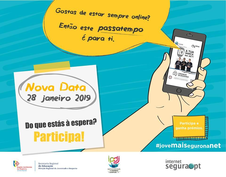#jovemaiseguronanet - Envia o teu trabalho até 28 de janeiro