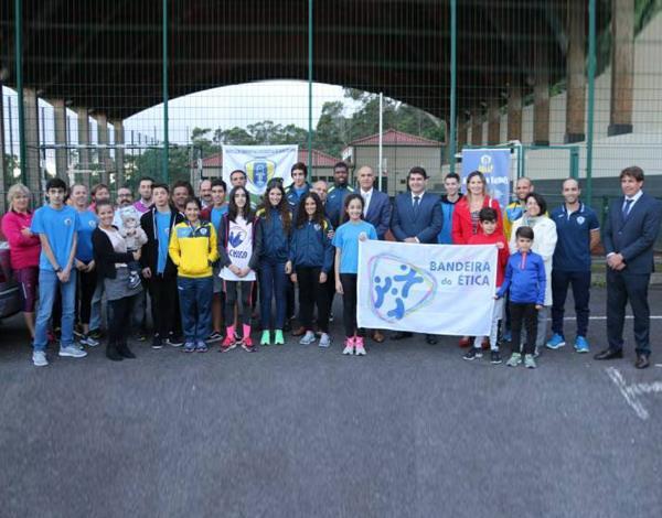 Entrega da Bandeira da Ética à Associação Desportiva Recreativa de Água de Pena