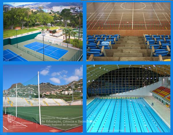 Infraestruturas desportivas sob a gestão da DRD
