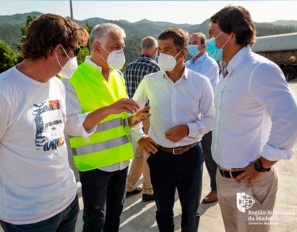 Visita à construção da pista de patinagem de velocidade na zona Oeste da Madeira no âmbito do OPRAM
