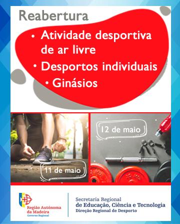 COVID-19 - Retoma de atividades desportivas