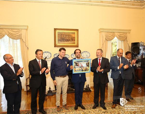 Presidente do Governo Regional recebeu AM Madeira Andebol SAD