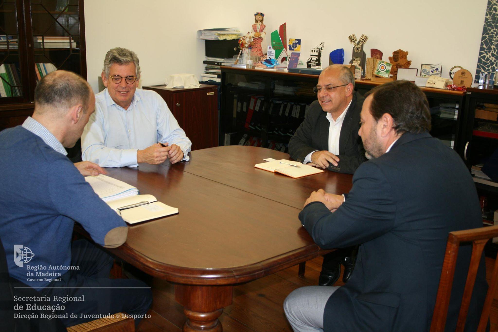 Direção Regional de Juventude e Desporto reuniu com o Presidente da Federação Portuguesa de Patinagem