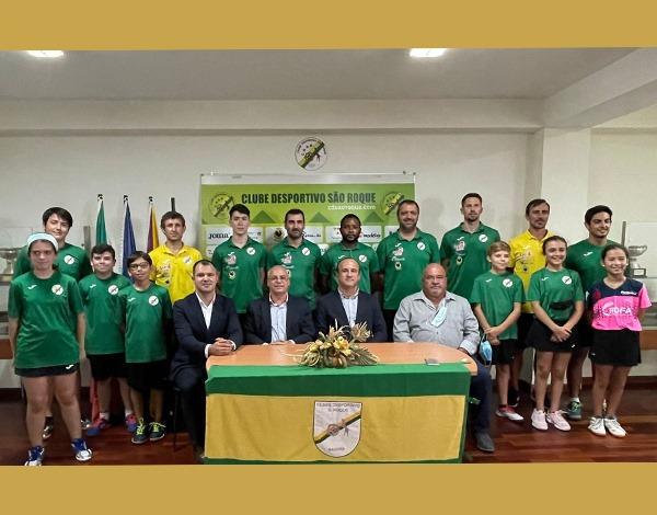 CD São Roque apresentou equipa de ténis de mesa