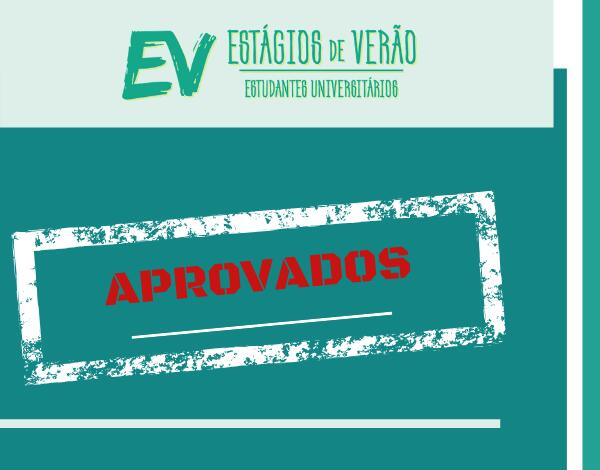 Programa Estágios de Verão 2020 | Candidaturas aprovadas