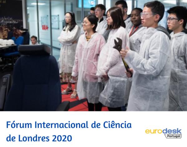 Bolsa | Fórum Internacional de Ciência Juvenil de Londres 2020 (LIYSF)