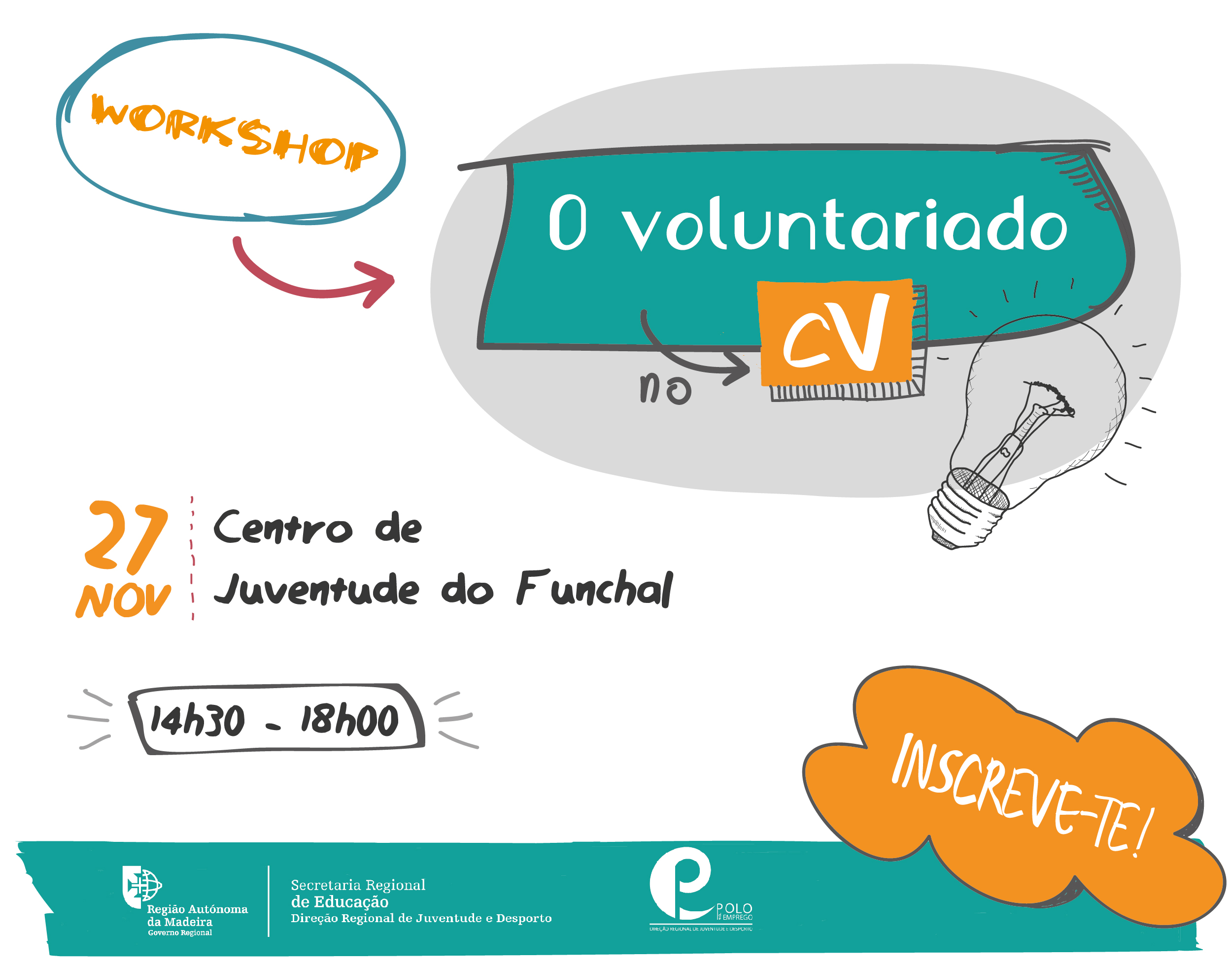 O Voluntariado no CV | workshop gratuito