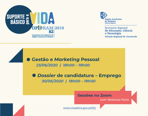 Gestão e Marketing Pessoal e Dossier de Candidatura a Emprego no ZOOM