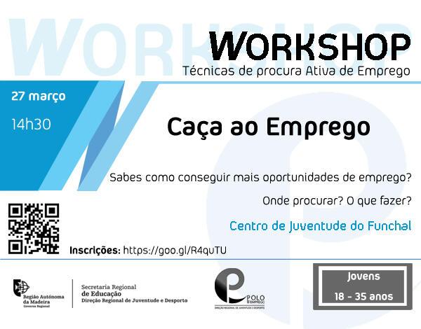 Caça ao Emprego | workshop gratuito