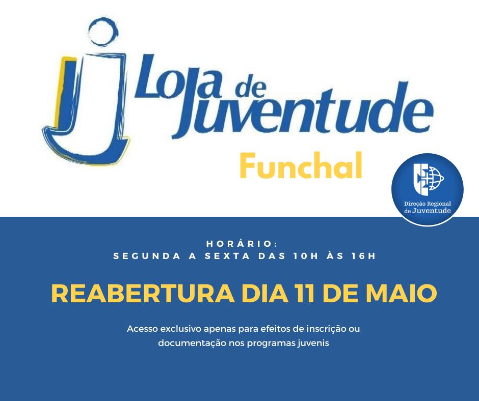Loja de Juventude do Funchal reabre dia 11 de maio