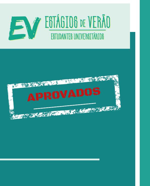 ESTAGIOS DE VERAO 2020 | CANDIDATURAS APROVADAS