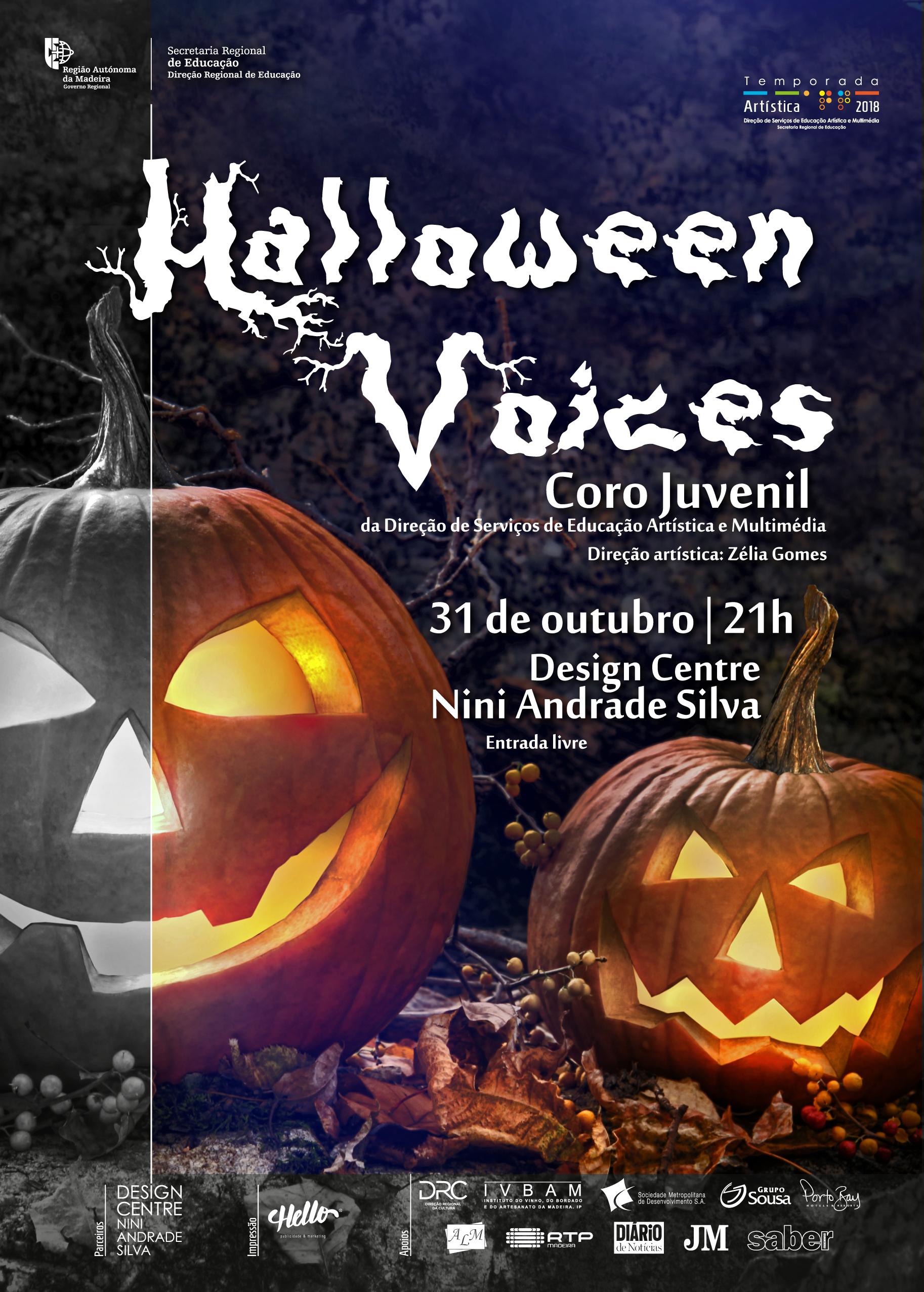 'Halloween Voices', com Coro Juvenil da DSEAM