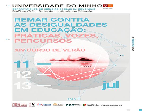 """XIV Curso de Verão - Círculo de Saberes 2019: """"REMAR CONTRA AS DESIGUALDADES EM EDUCAÇÃO"""""""