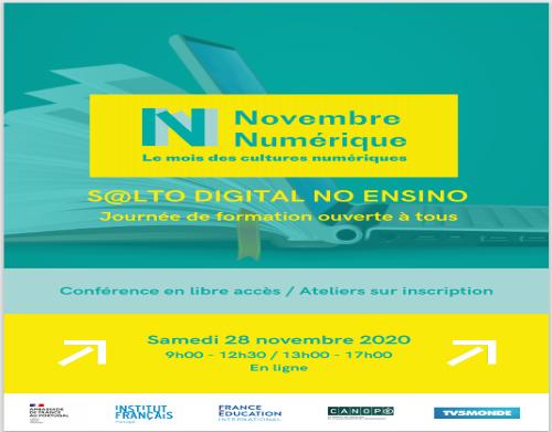 """Jornada de Formação à Distância """"S@lto Digital no Ensino"""" - Institut  Français au Portugal - 28 de novembro de 2020"""