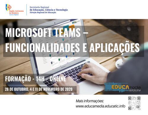 """Curso de Formação """"Microsoft Teams – Funcionalidades e Aplicações"""