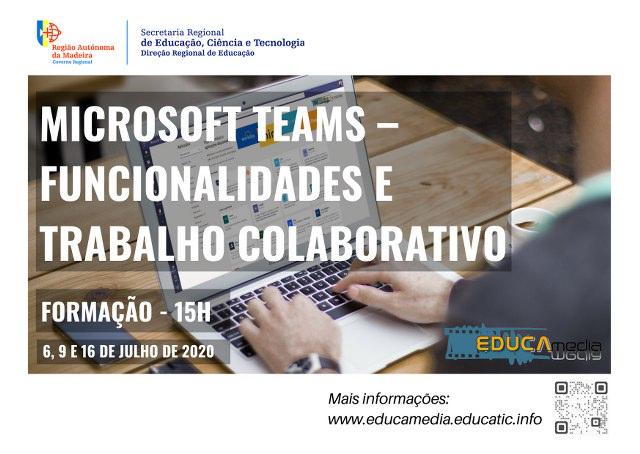 """Curso de Formação """"Microsoft Teams – Funcionalidades e trabalho colaborativo"""""""