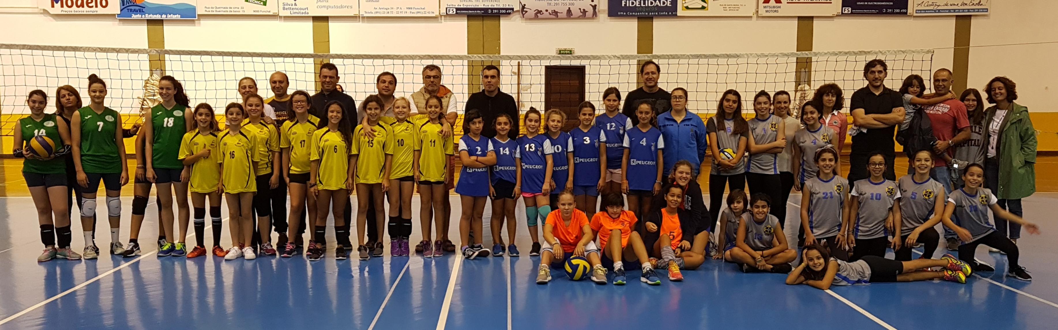 Concentração de voleibol para infantis