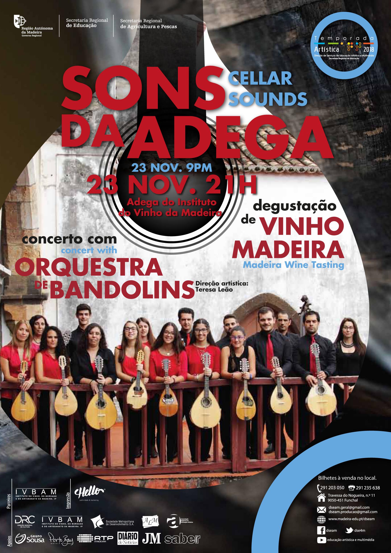 'Sons da adega', com a Orquestra de Bandolins da DSEAM