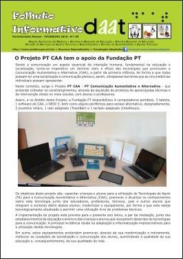 """Projeto «PT CAA» e workshop """"Vamos Comunicar com Símbolos"""""""