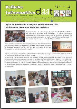Ação de Formação «Projeto Todos Podem Ler: Bibliotecas Escolares Mais Inclusivas»