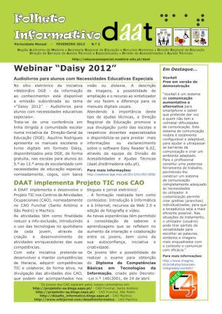 "Webinar ""Daisy 2012"""