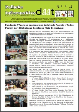 Fundação PT renova protocolo no âmbito do Projeto «Todos Podem Ler: Bibliotecas Escolares Mais Inclusivas»