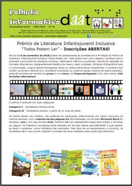 """Prémio de Literatura InfantoJuvenil Inclusiva """"Todos Podem Ler"""" - Inscrições ABERTAS!"""