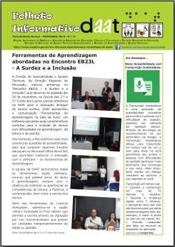 Ferramentas de Aprendizagem abordadas no «Encontro EB23L - A Surdez e a Inclusão»
