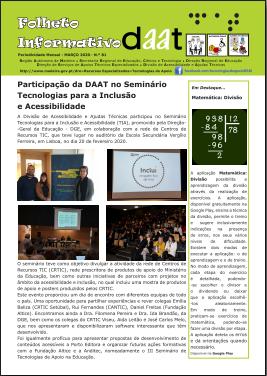 """Participação da DAAT no Seminário """"Tecnologias para a Inclusão e Acessibilidade"""""""
