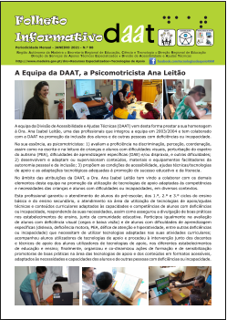 A Equipa da DAAT, a Psicomotricista Ana Leitão