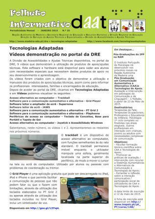 Tecnologias Adaptadas - Vídeos de demonstração no portal da DRE
